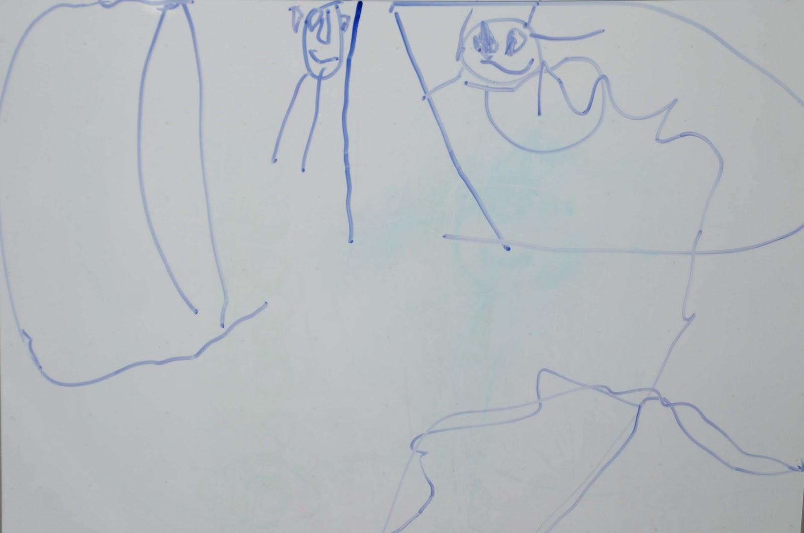 Preschooler Drawing of Grandma Bubbles